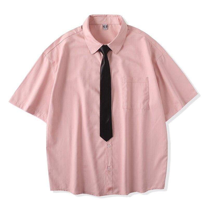Рубашка в клетку мужские рубашки 2021 новинка моды летнего сезона, негабаритных заниженной линией плеч мужские рубашки с коротким рукавом ...