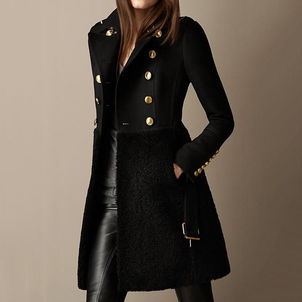 النساء السترات المتضخم Punk الشرير الأسود سليم الخريف الشتاء النساء المعاطف أبلى الإناث المألوف حجم كبير معطف دافئ