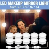 canling mirror light led dressing table vanity mirror lamp usb hollywood makeup bulb led 12v bedroom led wall lamp 6 10 14 bulb