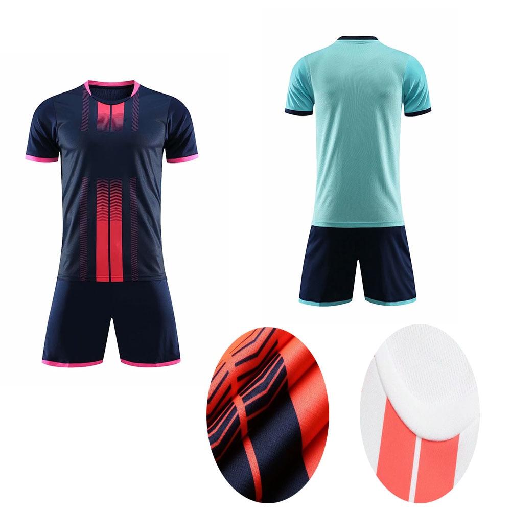 Custom Print Men KIds Soccer Jerseys Shirts Shorts Training Uniform Women Survetement Football Kits Boys Soccer Sports Clothing