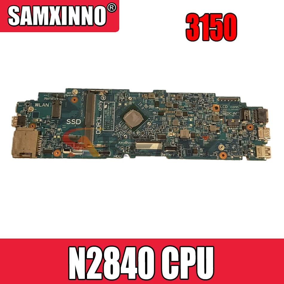 Akemy العلامة التجارية الجديدة Plano-M MB 14230-1 5FFCR CN-0416X4 0416X4 لديل خط العرض 11 3150 اللوحة الأم للكمبيوتر المحمول SR1YJ N2840 CPU
