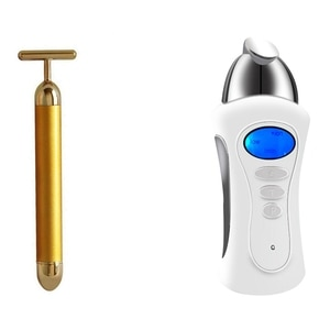 Gold Beauty Bar Anti Wrinkles  (Color: Gold) with Beauty Stimulator Galvanic Microcurrent Spa Device