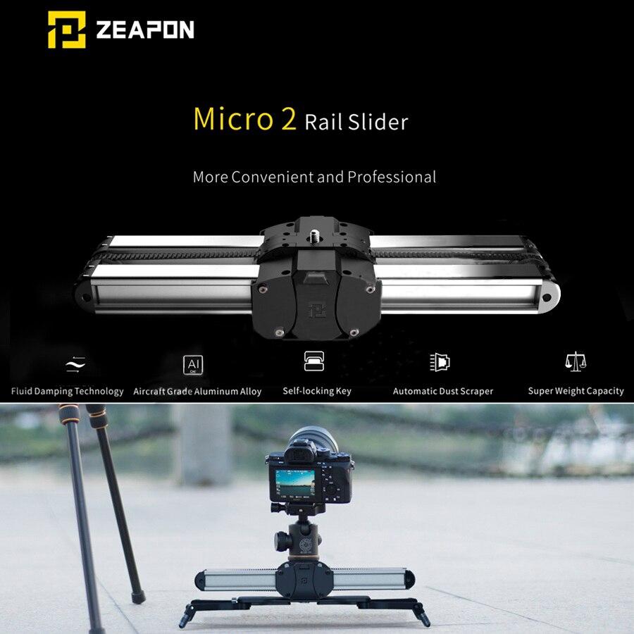 Zeepon Micro 2 mini deslizador de doble distancia pista deslizante Dolly Rail para iphone x Smartphone DSLR/ARRI Mini/rojo/BMCC