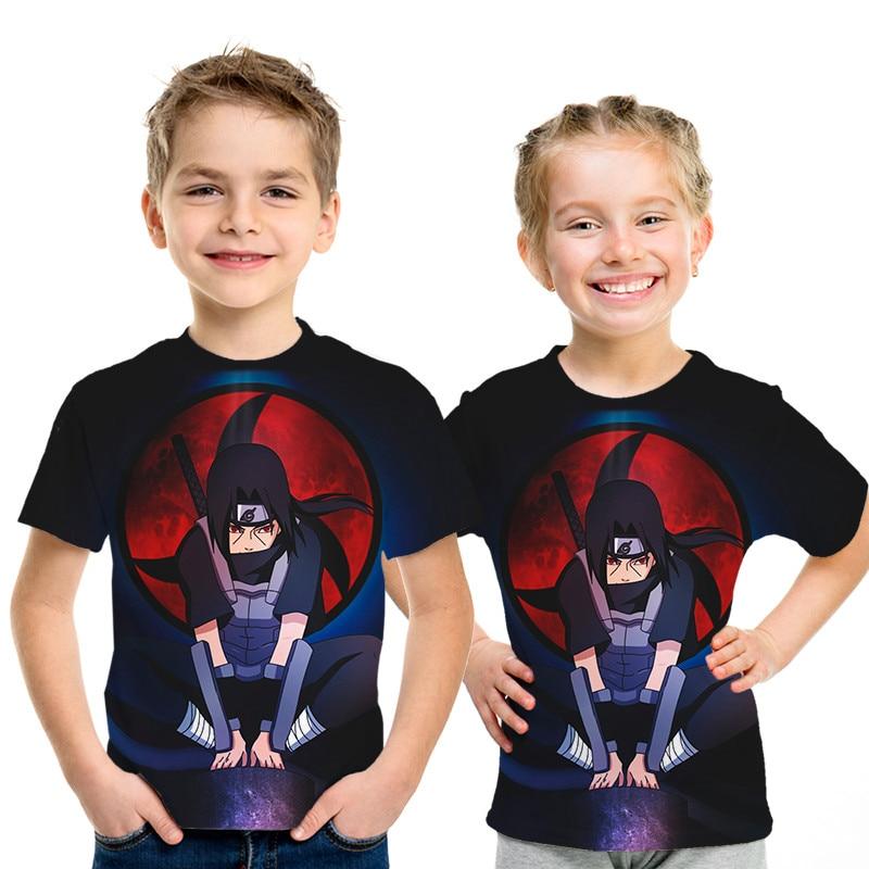 Anime kakashi tshirt Boys Girl 3D t-shirt Naruto- cosplay Sweatshirts Narutos action figure tee shirts Top teenager
