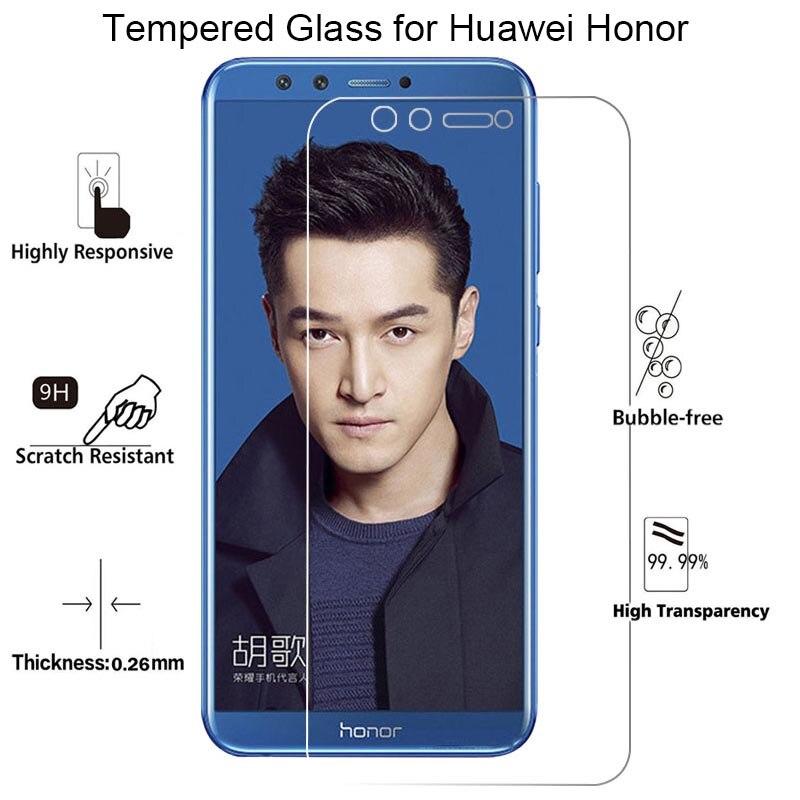 Защита экрана для Huawei Honor 7 V8 8 Pro 7S закаленное защитное стекло на Honor 9 Light 10 V9 Play View 10 9 Lite