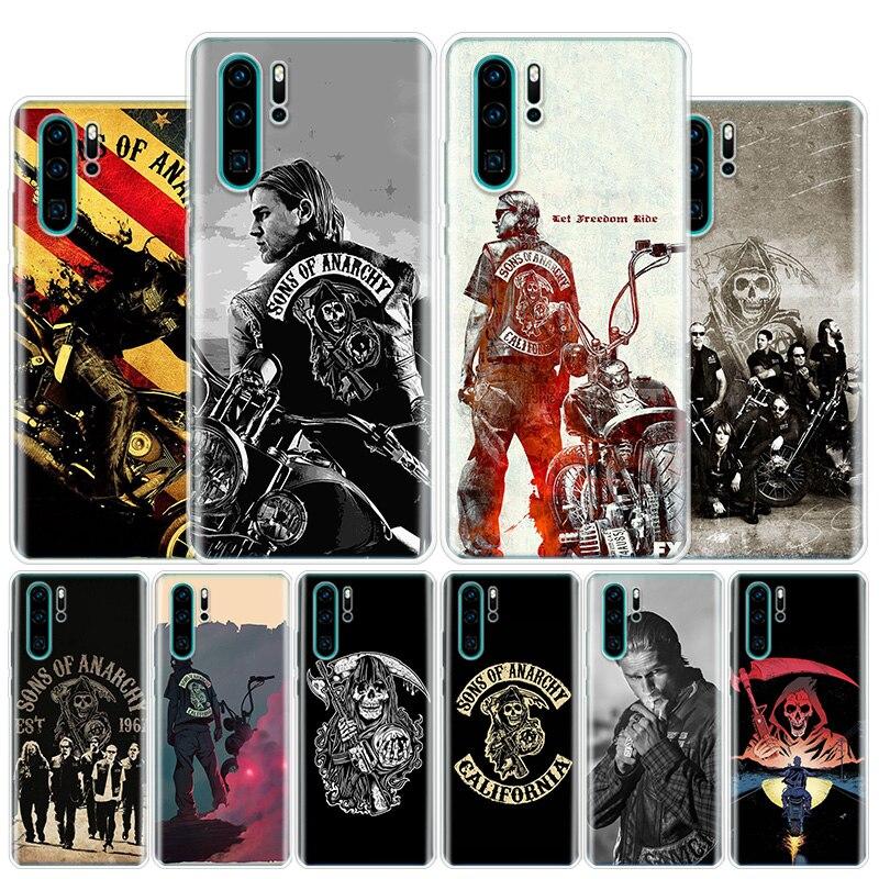 TV Americana de los hijos de la anarquía de la caja del teléfono para Huawei Honor 10 9 Lite 8A 8X 8S 7A 7X 9X 20i Pro Y5 Y6 Y7 Y9 2019 V20 V30 cubierta Coque