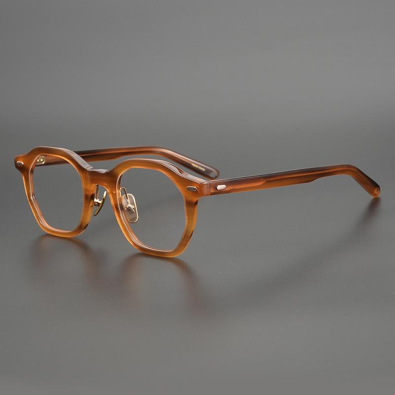 نظارات كلاسيكية بإطار من الأسيتات للرجال والنساء ، نظارات بتصميم كلاسيكي غير منتظم ، بوصفة طبية ، مناسبة لقصر النظر ، 2020