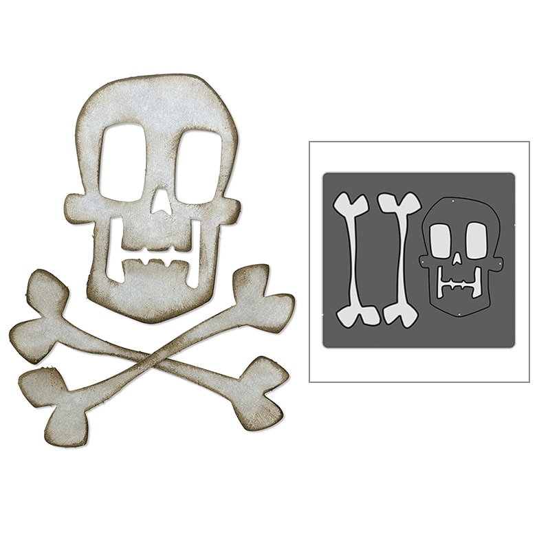 ¡Novedad de 2020! Troqueles de corte de Metal para Halloween, colección de calaveras y tarjeta de plantillas para manualidades troqueladas en 3D sin sellos