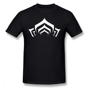 Warframe T Shirt Warframe Lotus Symbol White T-Shirt Print 100% Cotton  Shirt Mens Beach Short Sleeves Fun oversized plus size