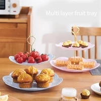 3 tier european tray detachable cake stand pastry cupcake fruits serving plate desserts candy holder table decoration trays