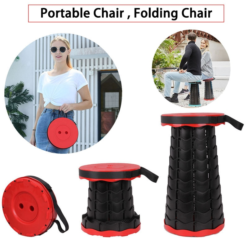 portable aluminum folding chair stool seat outdoor fishing camping picnic padded folding chair fishing Outdoor Portable Chair Folding Camping Chair Fishing Traveling Picnic Space Saving Telescopic Retractable Stool Folding Chair