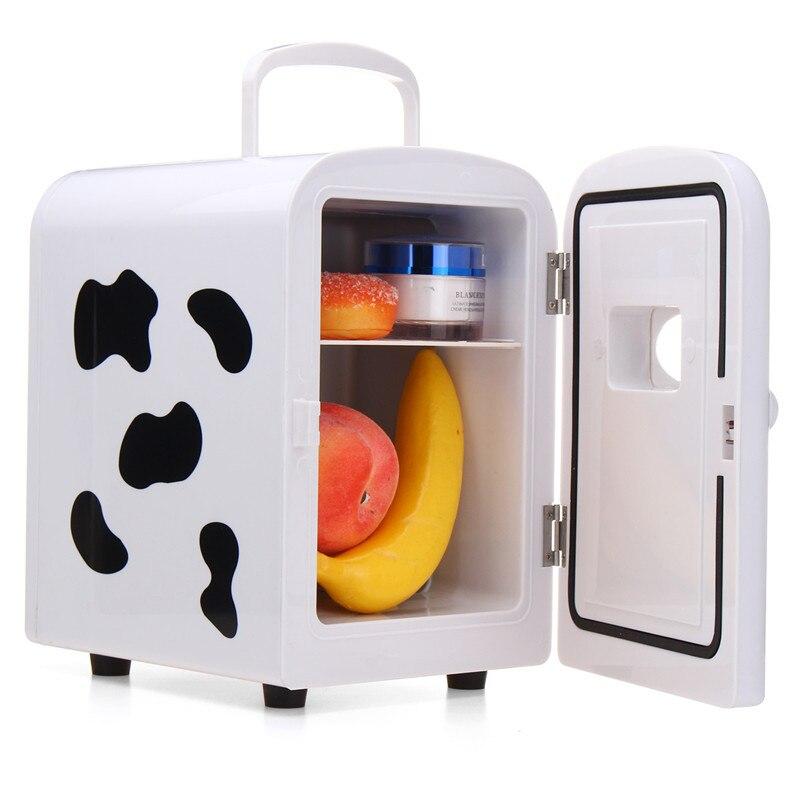 4l casa/carro geladeira automobible mini geladeira geladeira freezer caixa de resfriamento frigobar alimentos frutas armazenamento geladeira compressor