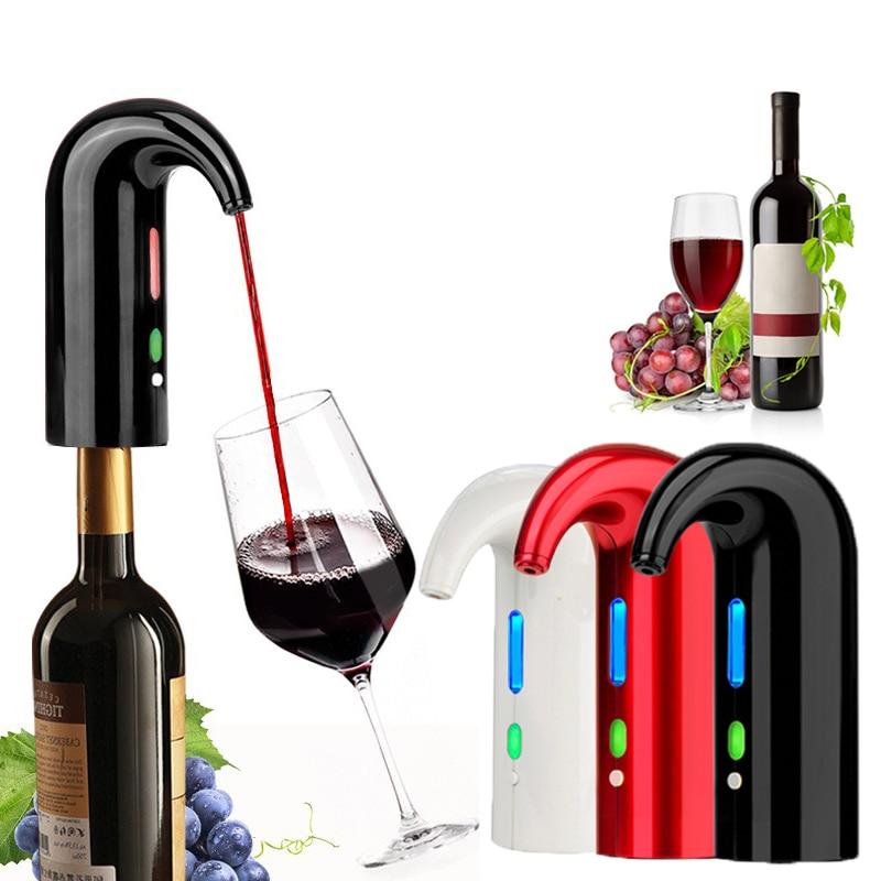 إناء نبيذ كهربائي سمارت النبيذ مهوية التلقائي الأحمر مدفق نبيذ موزع المحمولة USB قابلة للشحن إناء نبيذ بار أداة