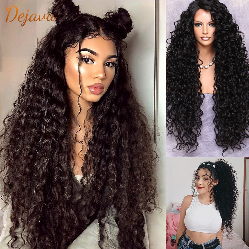 Deep Wave Lace Front Wig Curly Human Hair Wigs Pre Plucked Lace Frontal Wigs Brazilian Virgin Hair Remy Wig