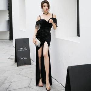 Evening Dresses Strapless Spaghetti Strap Simple Beading Mermaid Floor-length Elegant Plus size Women Formal Party Dress C287