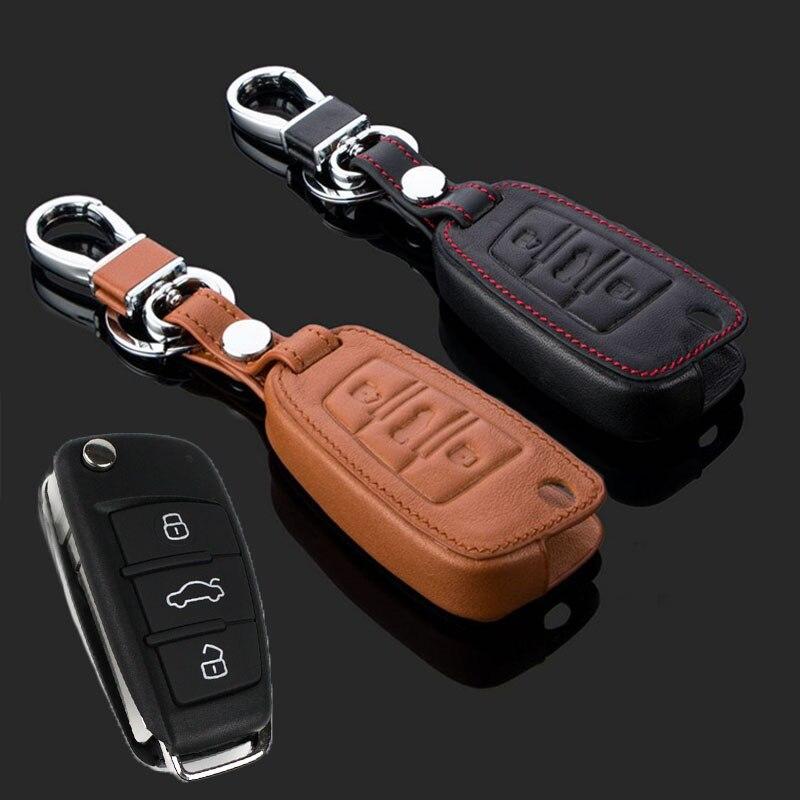Multicolor carcasa de llave a distancia de coche caso cubierta protectora de cuero para Audi A1 TT A4L A6 A5 A7 A8 Q3 Q7 Q5 Q7 S5 S6 S7 S8 nuevo