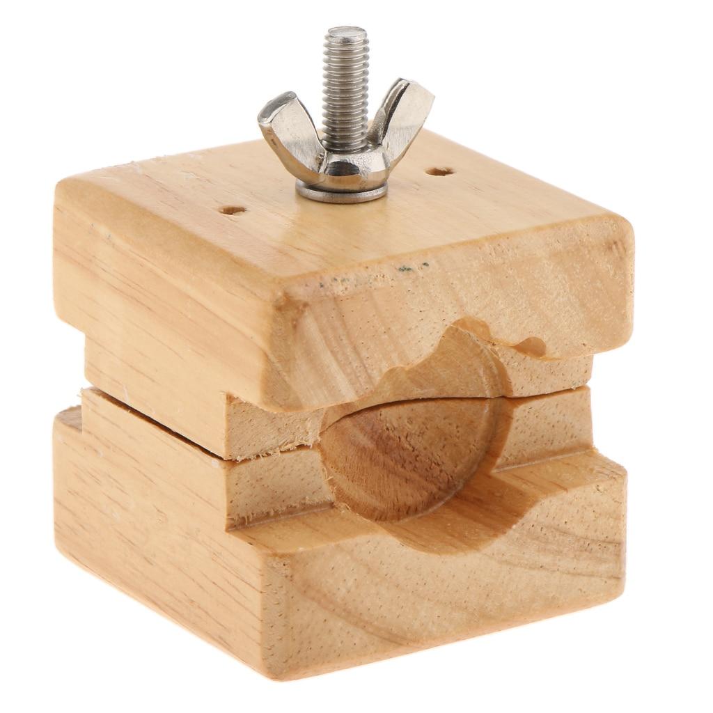 Wooden Clamp Tool Movement Adjustable Watch Holder Plastic Repair Fixer