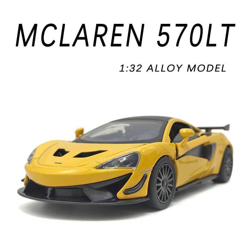 1:32 Alloy Car Model for Children Miniature McLaren 570LT Super Sport Metal Vehicle Boy Collector Gifts Christmas Hot Sell Toys
