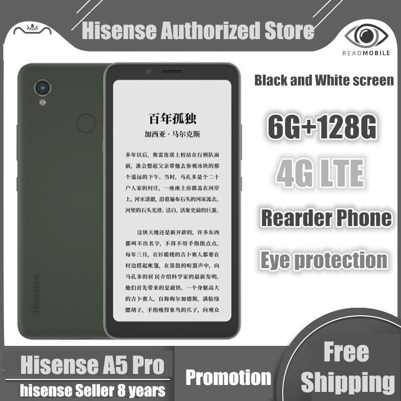 Сотовый телефон Hisense A5 Pro с чернильным экраном, сканирование лица, отпечатков пальцев, Android 10,0, 5,84 дюйма, две SIM-карты, чтение, A5 PRO, Hisense