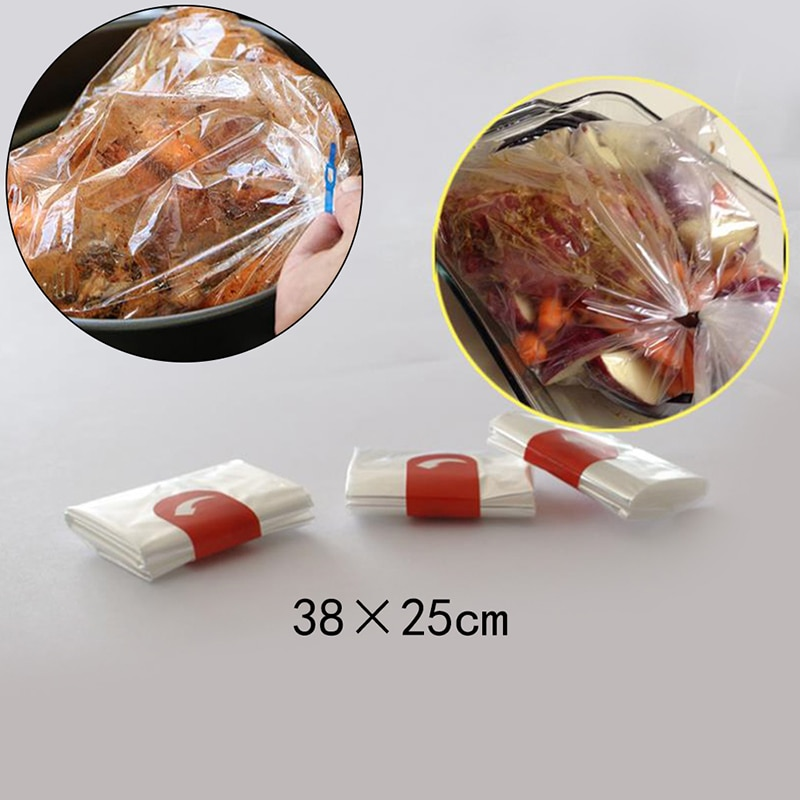 Термостойкий нейлоновый вкладыш для медленной плиты 10 шт., мешок для запекания индейки для приготовления пищи, мешок для духовки, подкладки ...