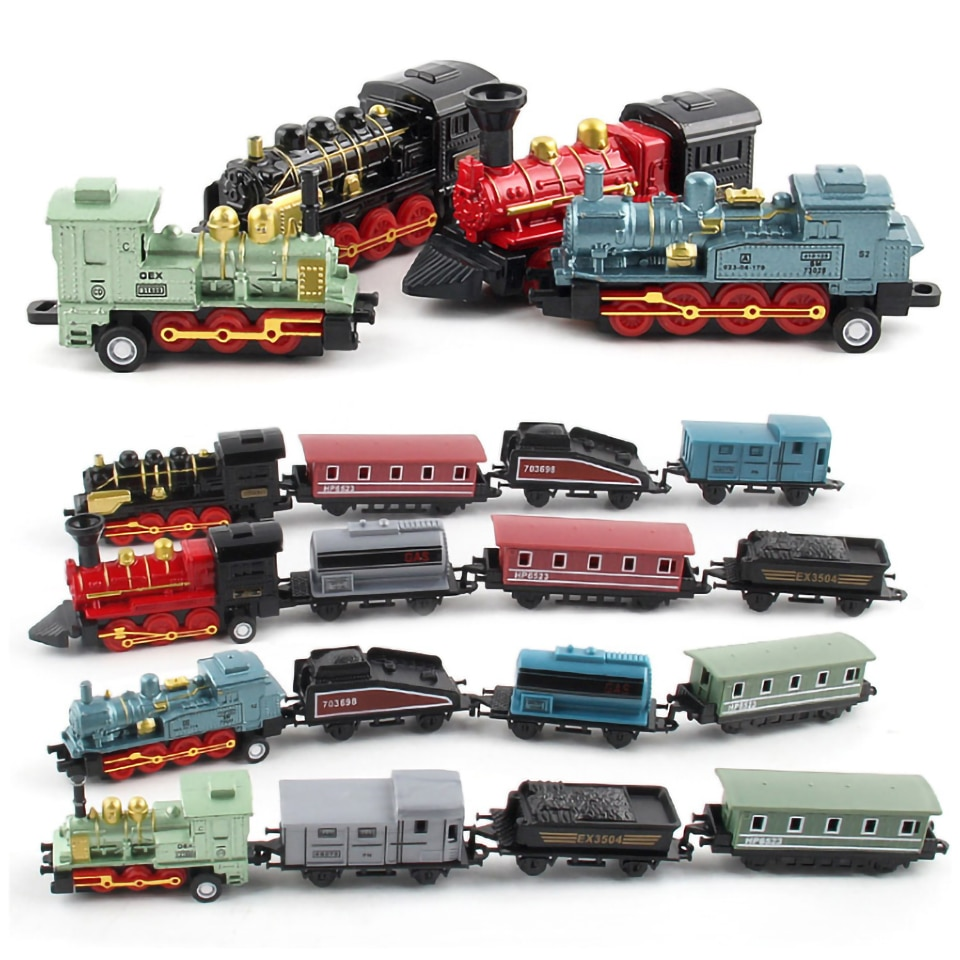 Mini Steam Alloy Train Car Miniature Christmas Toys For Children Diecast &Amp Toy Vehicles Gift Fast And Furious Toys For Boy