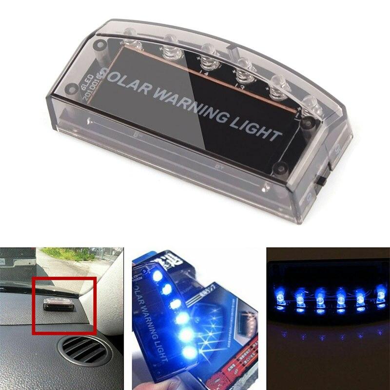 For Strobe Signal Security System Universal Flash Warning LED Light Alarm Lamp Car Solar Power Simul