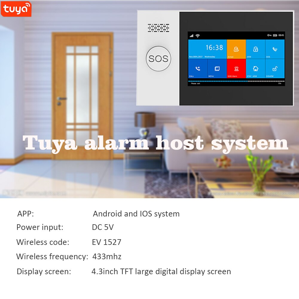 WIFI Tuya Security Alarm System Kit Smartlife App Control With Gas Detector Auto Dial Motion Detector Gsm Home Smart Alarm enlarge