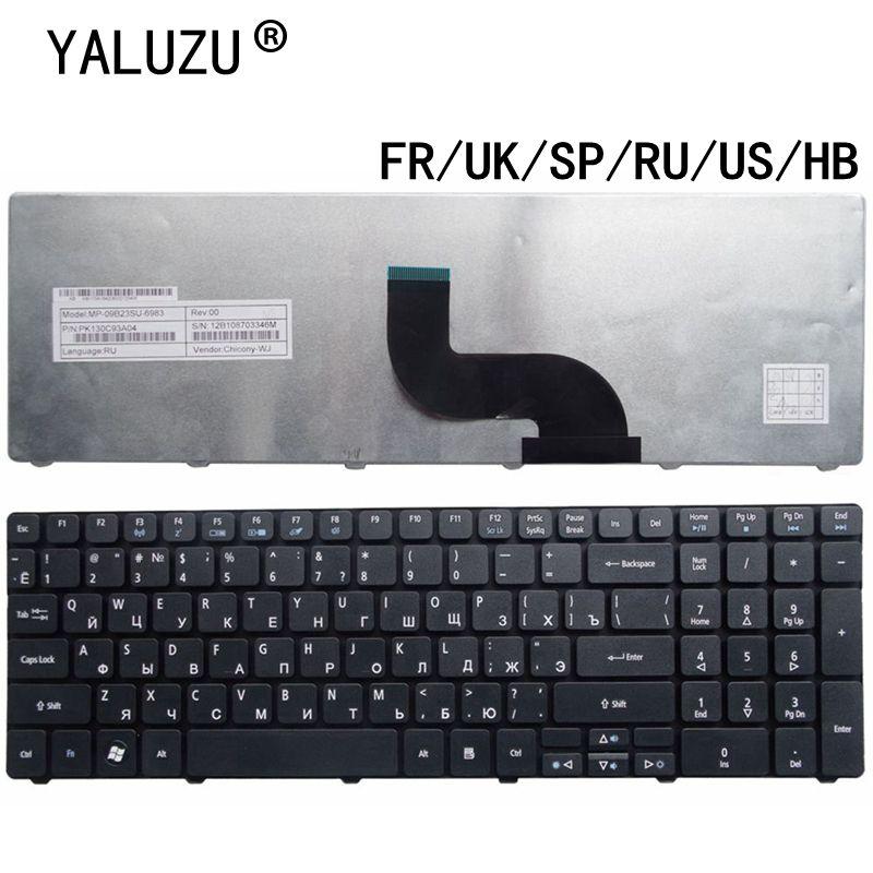 US/UK/SP/RU/FR/HB teclado del ordenador portátil para Acer Aspire 7738, 5538, 5741, 7551...