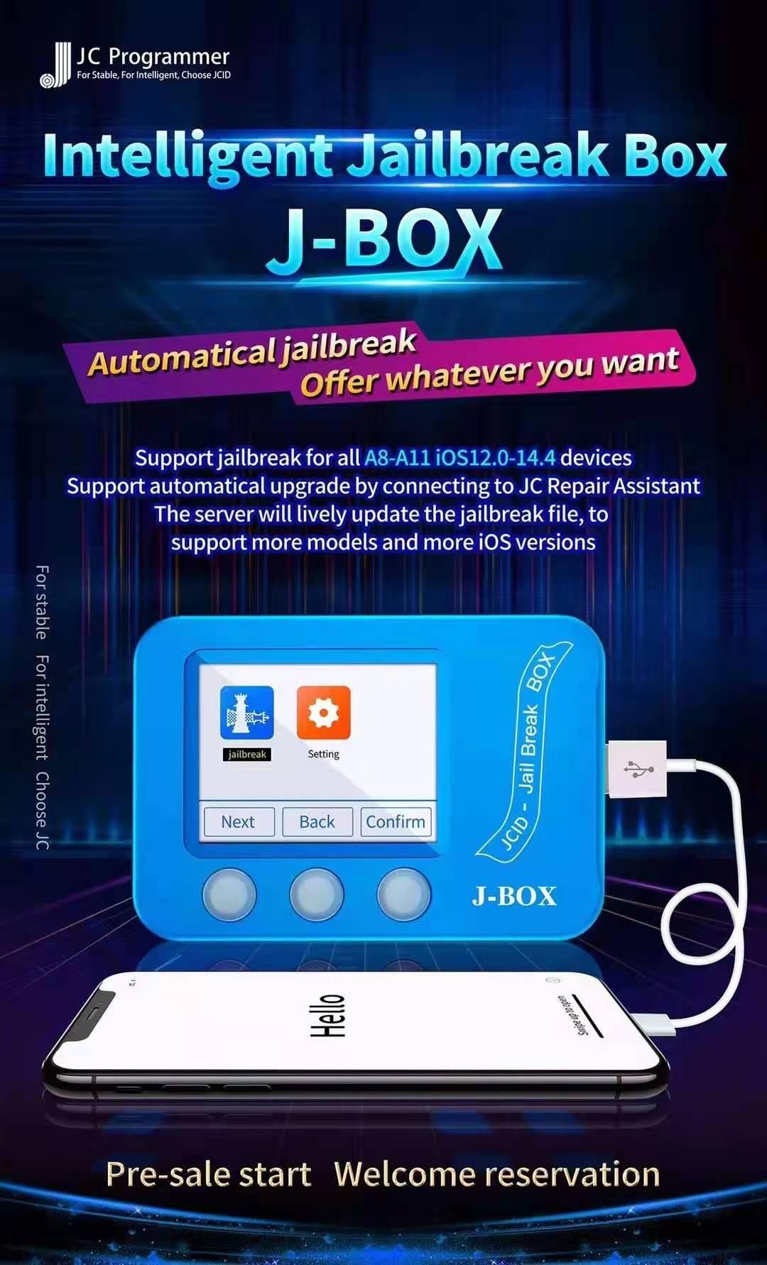 Promo J-BOX jail break box jcid Programmer for bypass ID & icloud Password on iOS device for iphone ipad Check wifi bluetooth address