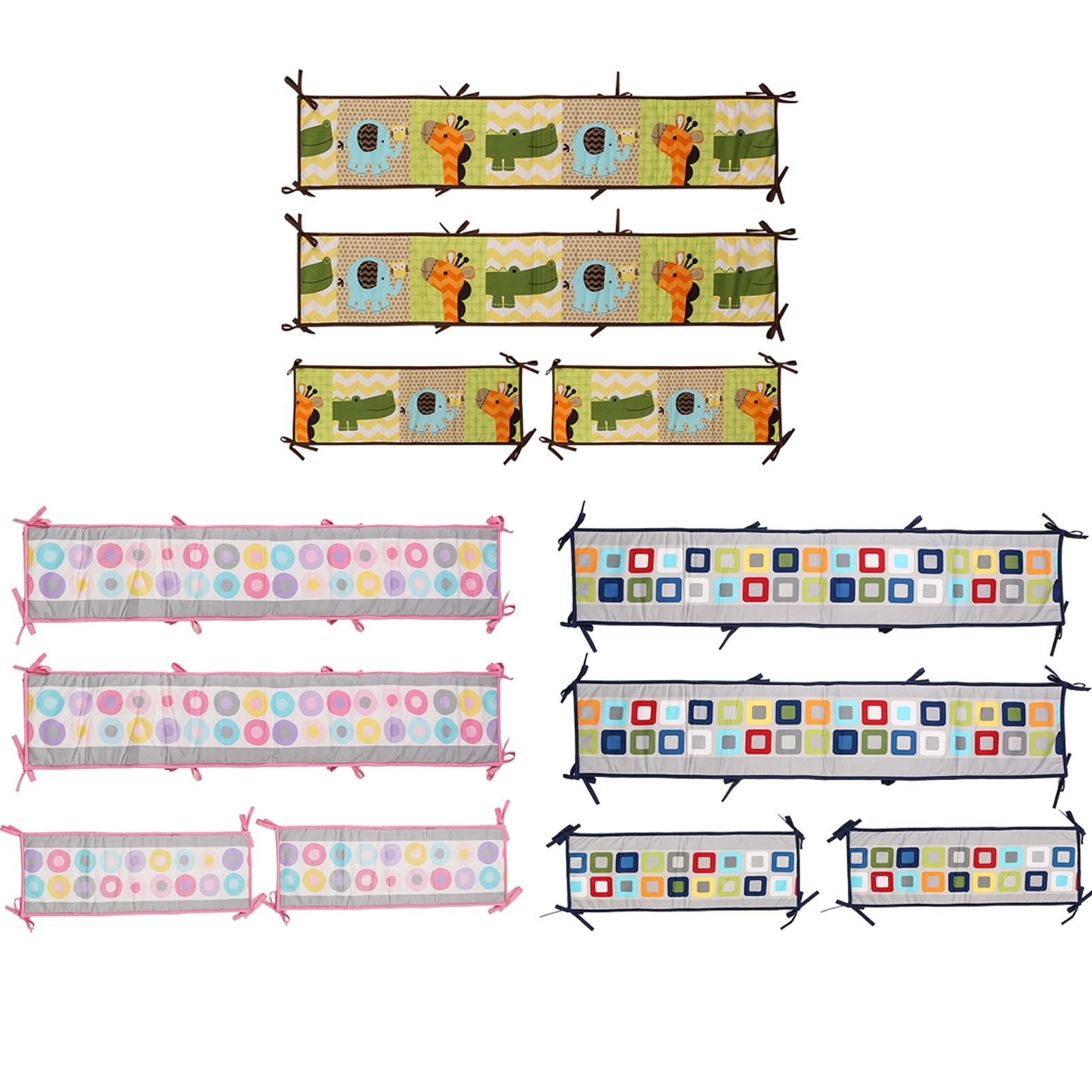 4Pcs Surrounding Baby Crib Bumpers Set Soft Baby Bed Circum Fence Infant Pillow Cushion Newborn Playpen Baby Room Decor Elegance