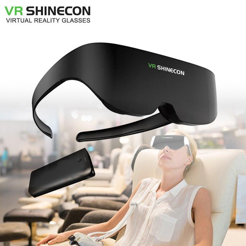 Shinecon VR سماعة شاشة عملاقة نفس الشاشة ستيريو سينما نظارات ثلاثية الأبعاد برو الواقع الافتراضي VR آيفون أندرويد الهاتف الذكي AI08