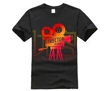 Divertida camiseta para hombre, camiseta blanca, camiseta negra Retro, cámara, cámara, cineasta, Película, Director, camiseta