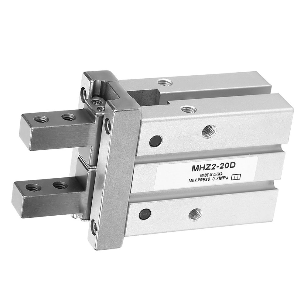 Pneumatic Cylinder MHZ2-20D 40D Double Acting Air Gripper Pneumatic Finger Cylinder SMC Type Aluminium Clamps Bore Double Rod sda cylinder compact pneumatic air 20mm bore 5 100mm stroke sda20 pneumatic double acting cylinder air piston cylinder sda20 25