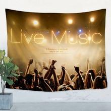 JazzReggaeRockHeavy metal Music Poster Retro Flag Banner Tapestry Bar Cafe Party Music Festival Background Decor Cloth