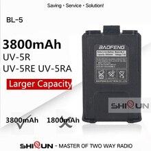 Batterie chaude Baofeng uv-5r BL-5 3800mAh Baofeng UV-5R UV-5RE batterie UV-5RA plus grande capacité que la batterie originale 1800mAh Baofeng