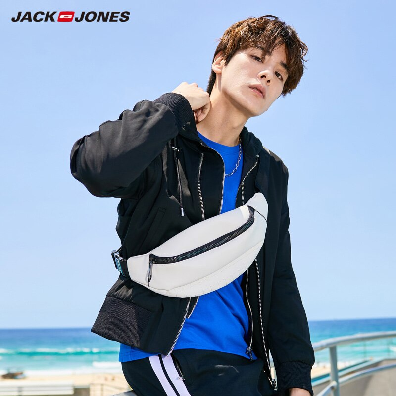 JackJones Men's Spring  Fashion Hooded Stand-up Collar Zip-through Jacket Menswear Streetwear  220121523