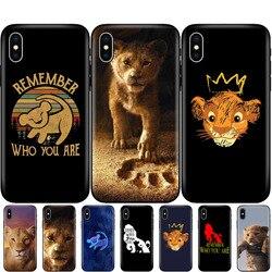 Capa de tpu preta para iphone, 5 5S se 6 6s 7 8 plus x 10, capa de silicone para iphone capa xr xs 11 pro max the lion king 2019