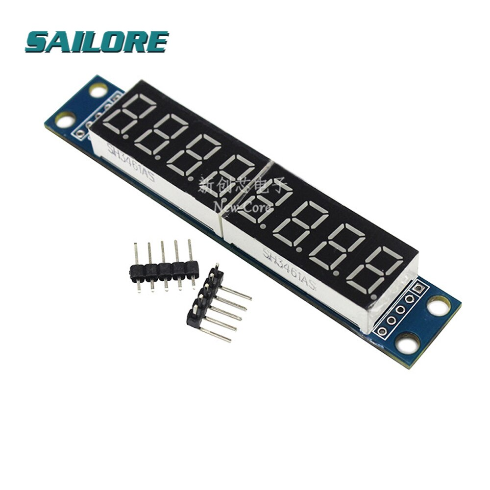 MAX7219 7 Segment LED Dot Matrix 8 Digit Digital Tube Display Control Module For Arduino 3.3V 5V Microcontroller Serial Driver