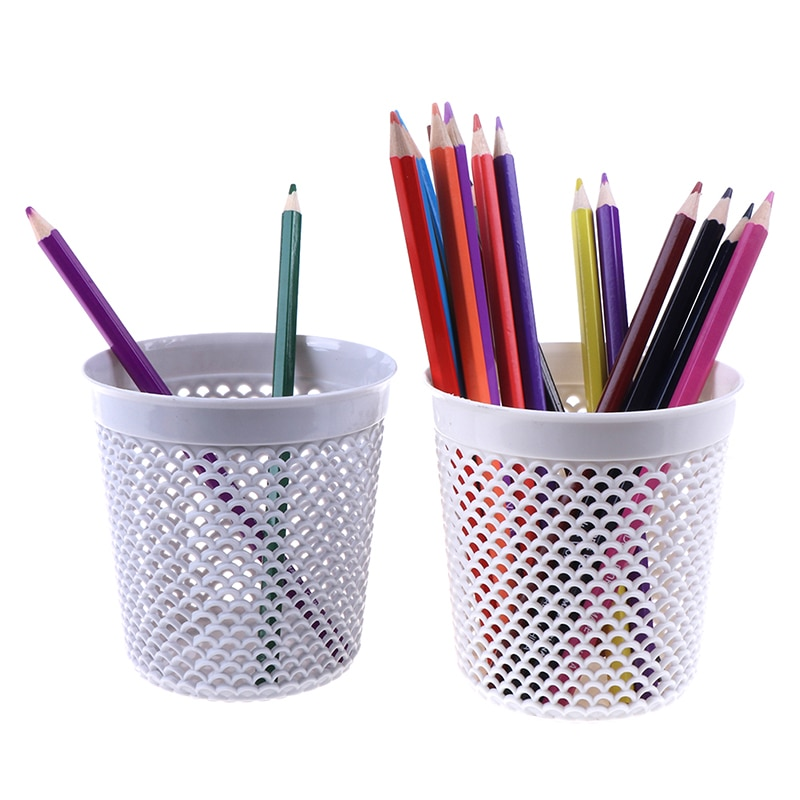 Multifuncional caneta pote maquiagem escova titular desktop cesta de armazenamento de lixo 1pc