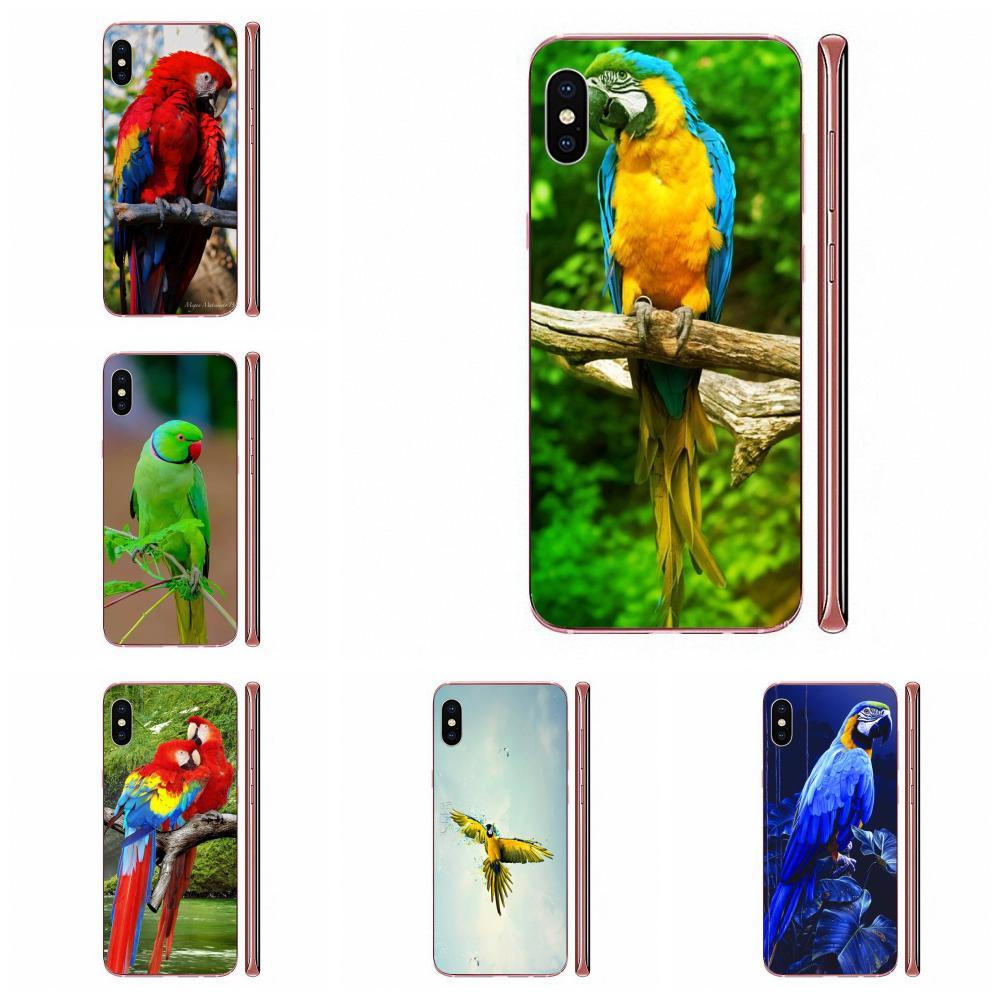 Macaw Parrot Arte Na Venda de Luxo Caixa Do Telefone Para Apple iPhone 4 4S 5 5C 5S SE SE2020 6 6S 7 8 11 Plus Pro X XS Max XR