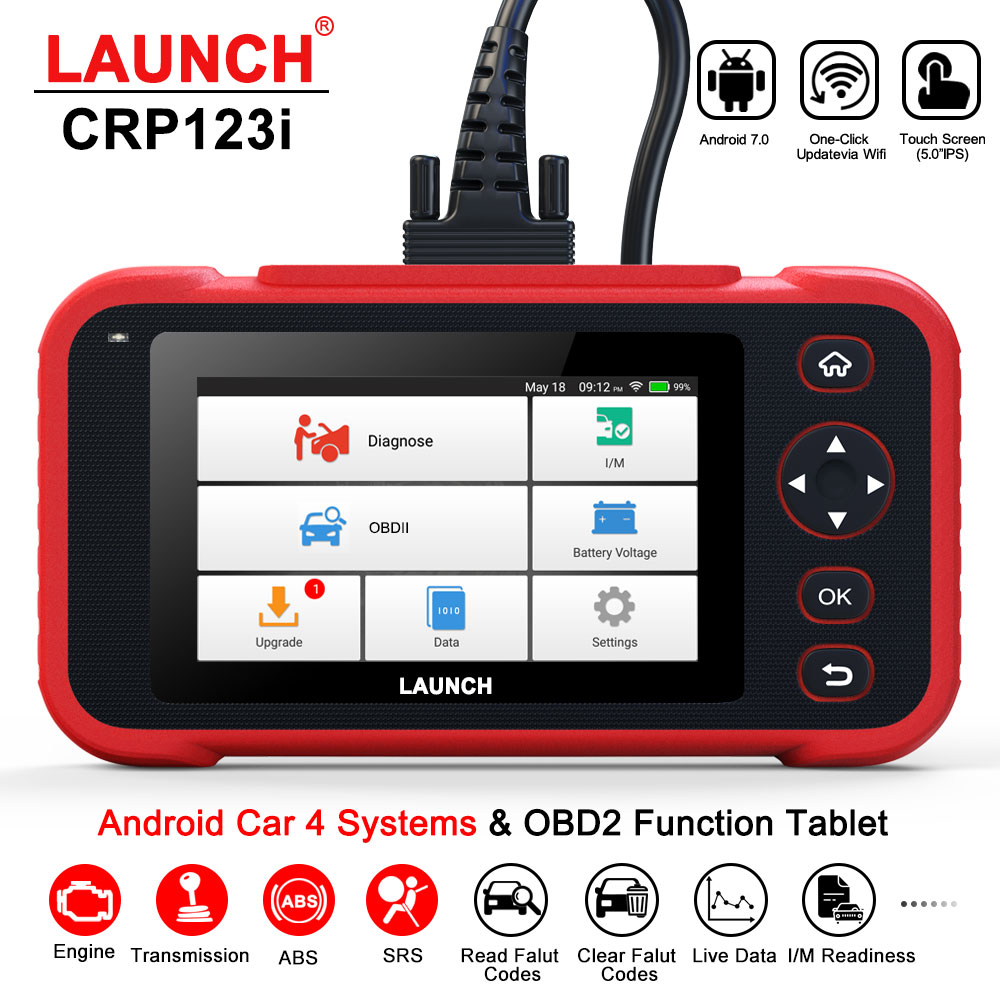 Launch CRP123i OBD2 Professional Diagnostic Tool Code Reader Touch Screen Engine ABS SRS Transmission System Automotive Scanner obd2 automotive scanner autek ifix919 full system car diagnostic tool engine abs airbag sas transmission auto diagnostic scanner