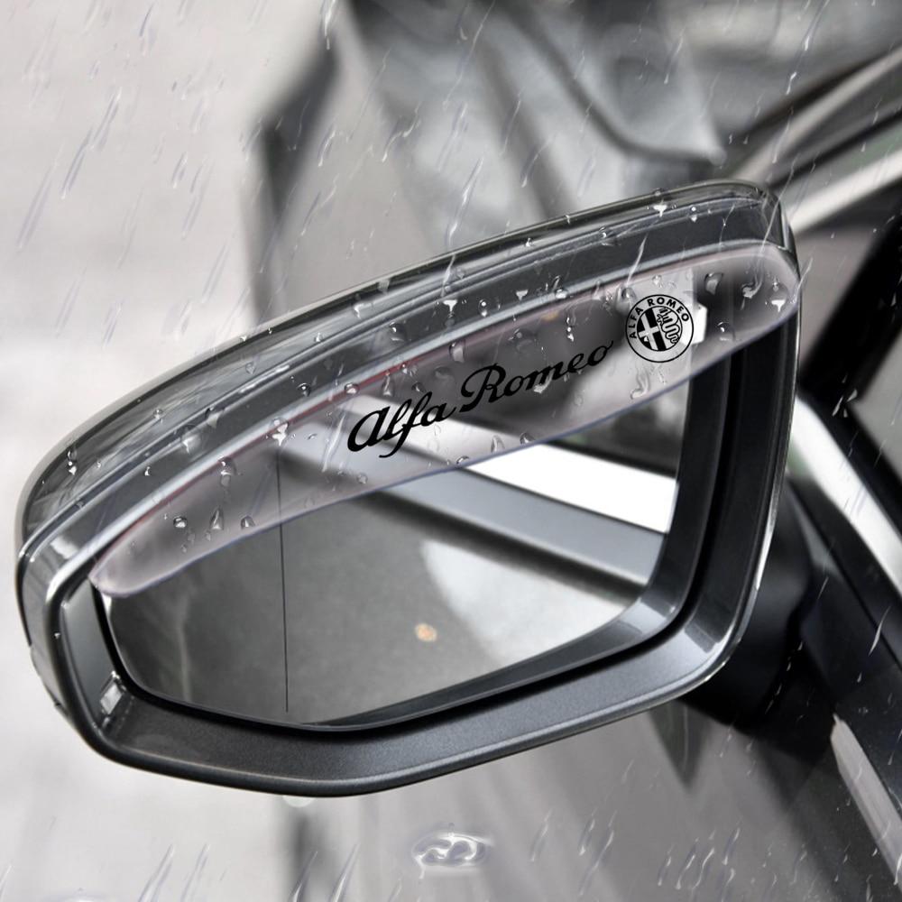 2 pçs/lote universal pvc carro espelho retrovisor chuva sombra lâminas à prova de chuva para alfa romeo mito 147 156 159 166 carro-estilo