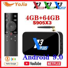 X3 PRO Amlogic S905X3 TV BOX Android 9.0 TV Box X3 CUBE 4GB RAM 64GB ROM décodeur 2.4G/5G WiFi 1000M 4K X3 PLUS lecteur multimédia