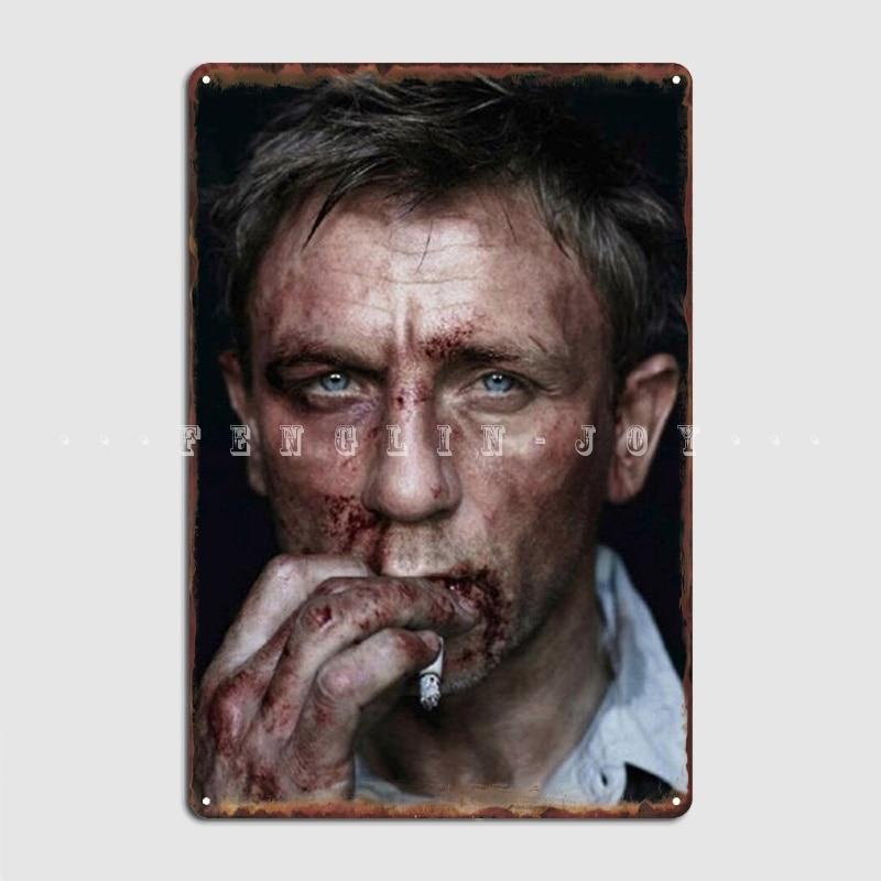 Daniel Craig Metal Plaque Poster Pub Cinema Create Plaques Tin Sign Poster