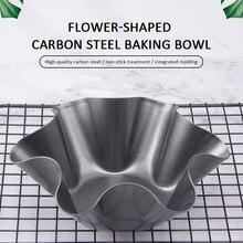 1 Pc Six-pétale fleur forme antiadhésive en acier au carbone Tortilla Pan ensemble Taco saladier moule gâteau cuit outils conteneur alimentaire 6/8 pouce