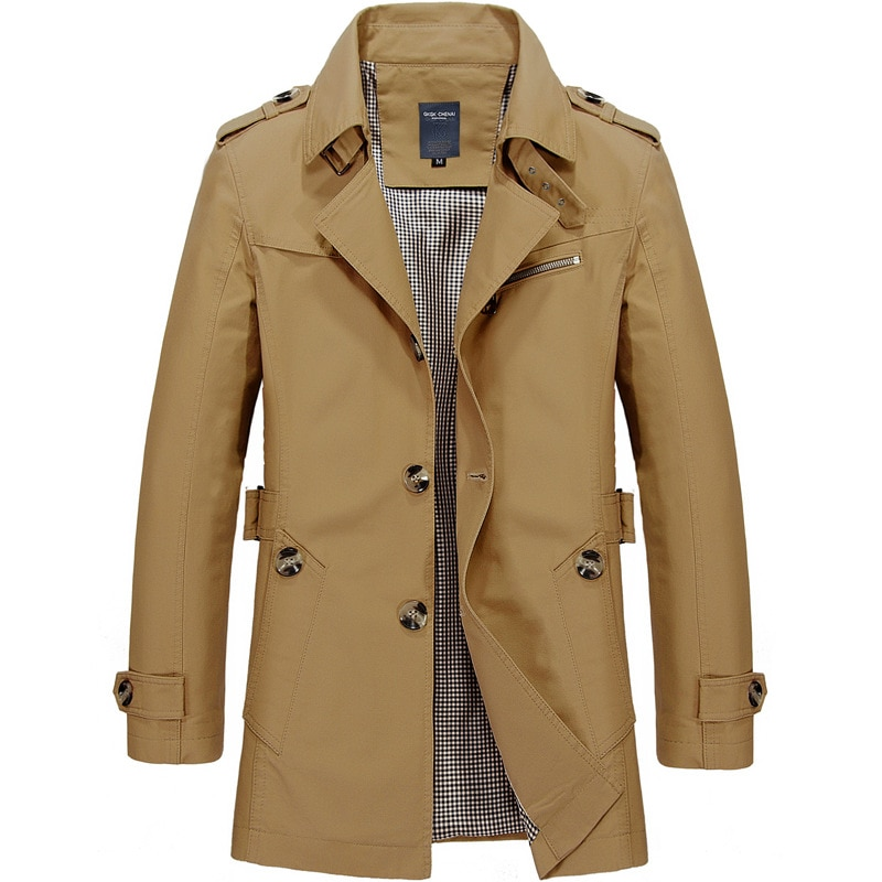 Мужская хлопковая куртка, длинная стильная ветровка, Модная парка, деловые куртки для отдыха, мужские пальто, длинная куртка 5XL