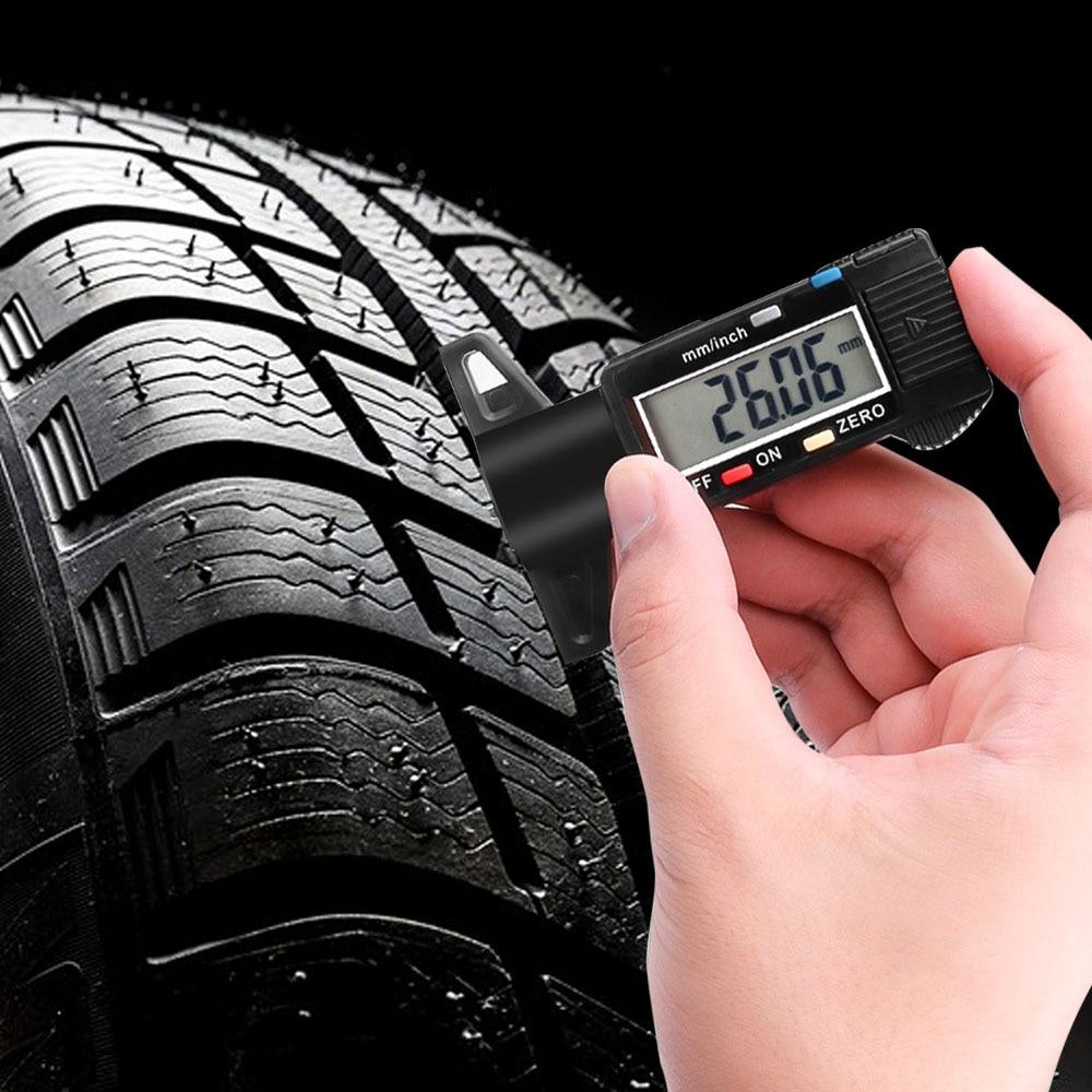 kebidumei Digital Tire Tread Depth Gauge Car Tire Meter Measurer High Accuracy Tyre Measure Tool Brake Shoe Pad