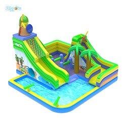 Water Park Castle Slide Inflatable Slide Pool Bounce House Combo