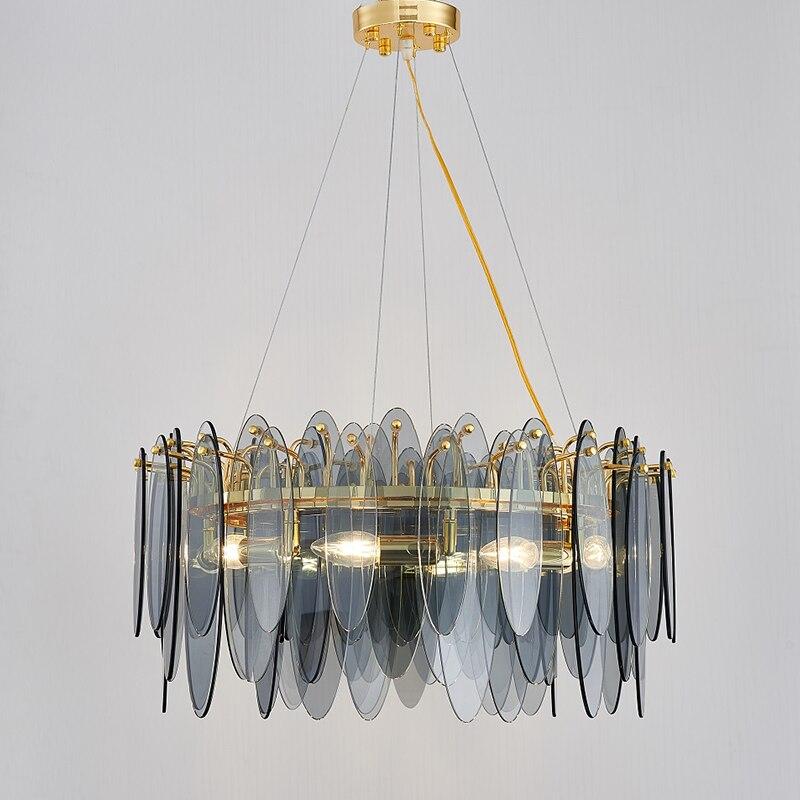 الفاخرة LED أضواء الثريا الديكور فيلا غرفة المعيشة الثريا الإبداعية الشمال غرفة نوم غرفة الطعام الدرج مصابيح