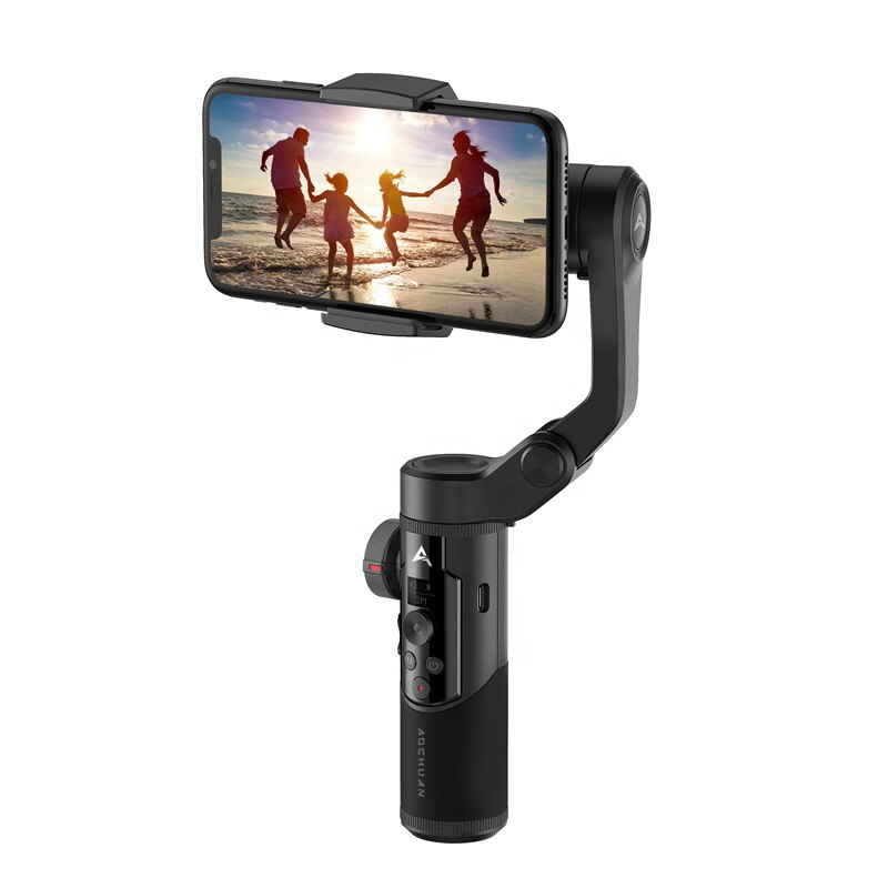 AOCHUAN Foldable 3-Axis Handheld Gimbal Stabilizer Smart Anti-Shake Selfie Stick For Smartphone IPhone Xs Max X Samsung SMART XR